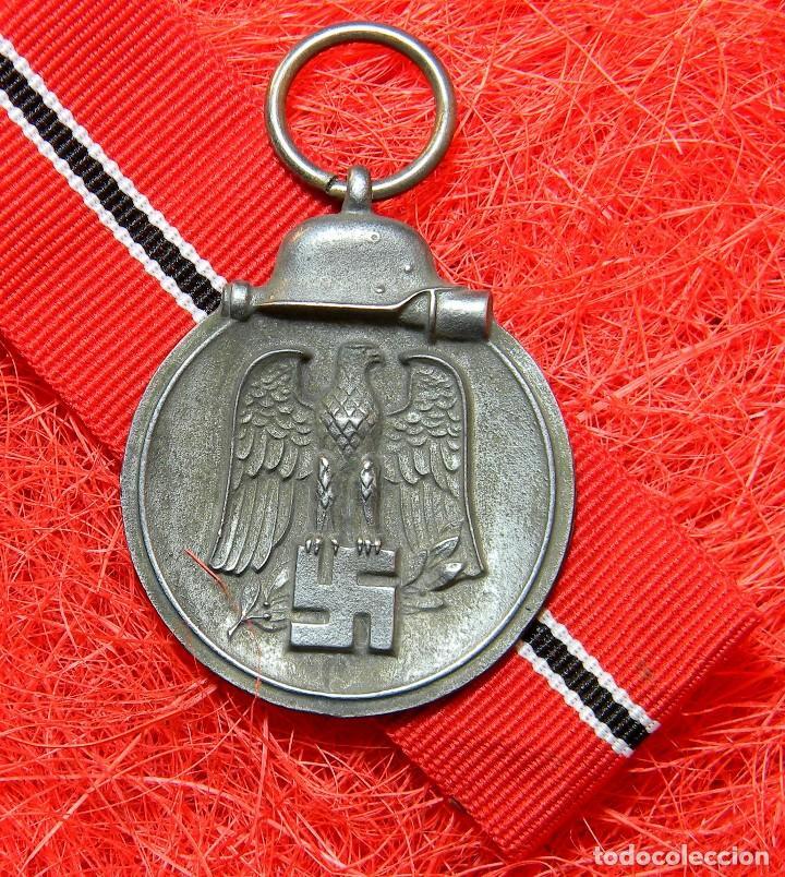 CAMPAÑA DE INVIERNO. FRENTE DEL ESTE. WINTERSCHLACHT IM OSTEN 1941/42 MEDAILLE. DIAMETRO: 35 MM (Militar - Reproducciones y Réplicas de Medallas )