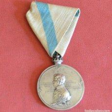 Militaria: MEDALLA - 1º CENTENARIO DE LA INDEPENDENCIA - PABLO MORILLO - PUENTE DE SAMPAYO - 1908 - PLATA. Lote 125976495