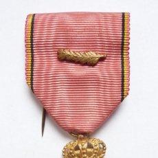 Militaria: BÉLGICA: MEDALLA A LOS VETERANOS DEL REY ALBERTO I CON PALMAS (1909-1934). Lote 126154259