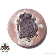 Militaria: PRUEBA. MUESTRA DE TROQUEL. ESCUDO. Lote 126592099