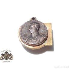 Militaria: PRUEBA. MUESTRA DE TROQUEL. MEDALLITA CARLOS 1887 - 1922. Lote 126593059