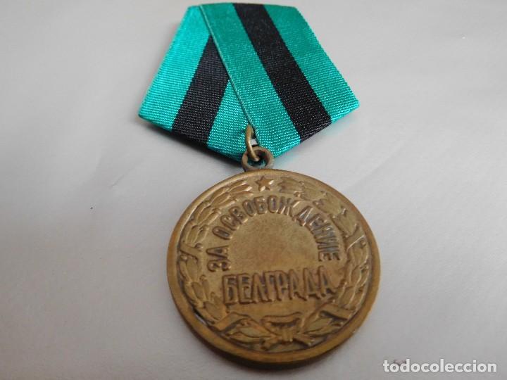 MEDALLA SOVIÉTICA POR LA LIBERACIÓN DE BELGRADO (Militar - Reproducciones y Réplicas de Medallas )