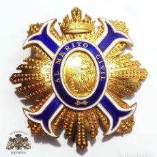 Militaria: GRAN CRUZ DE LA PLACA DEL MÉRITO CIVIL. Lote 126647207