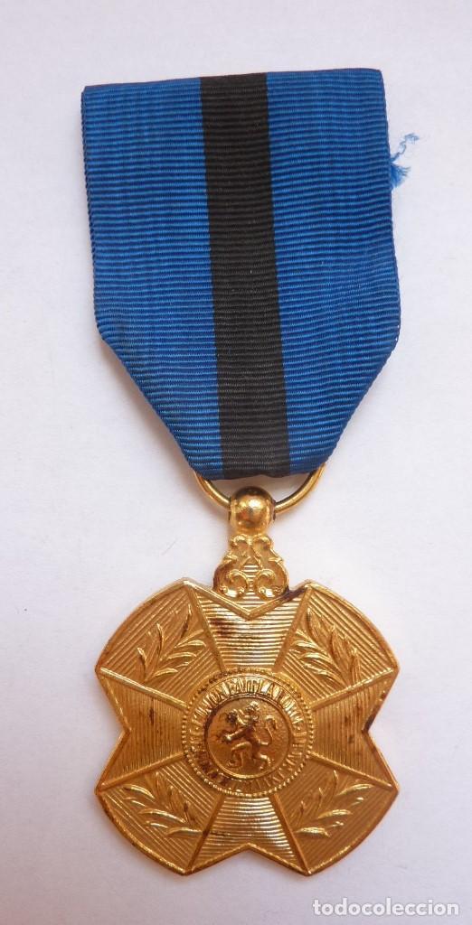 BÉLGICA: MEDALLA DE LA ORDEN DE LEOPOLDO II, CATEGORÍA DE ORO. (Militar - Medallas Internacionales Originales)