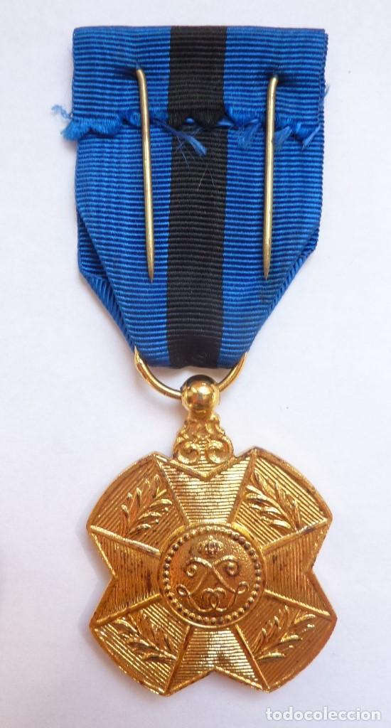 Militaria: Bélgica: Medalla de la Orden de Leopoldo II, categoría de Oro. - Foto 2 - 126687399