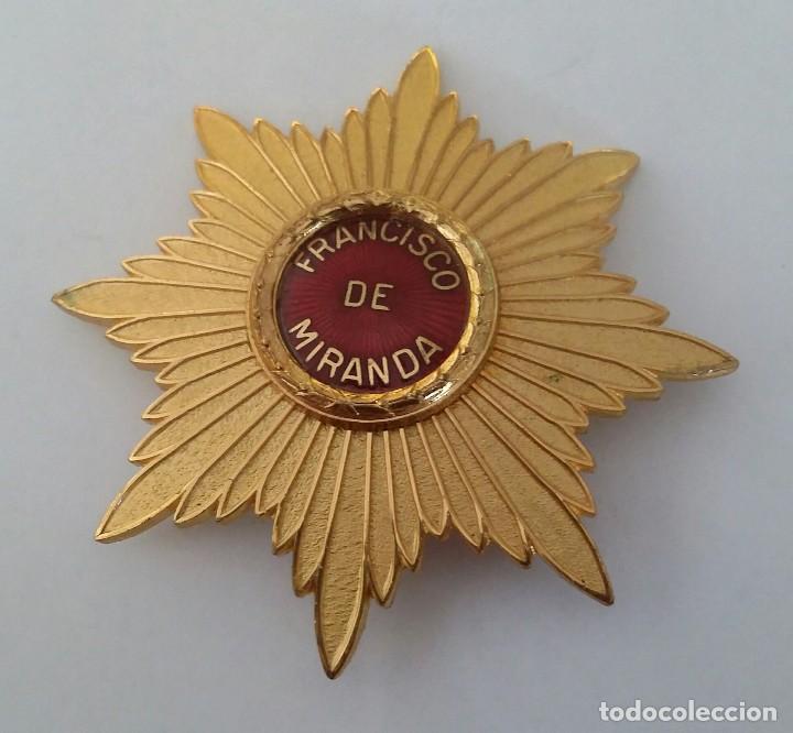 CONDECORACIÓN ORDEN FRANCISCO DE MIRANDA (Militar - Medallas Internacionales Originales)