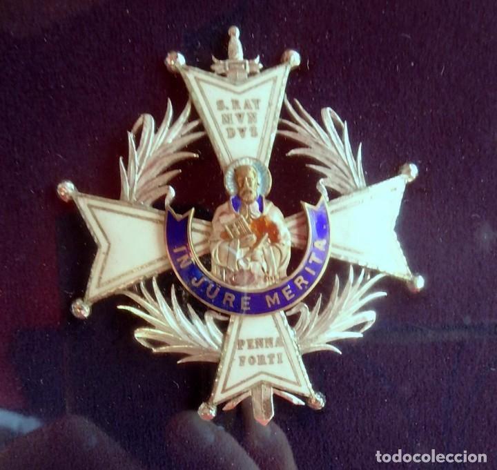 Militaria: (XJ-180717) Collar de honor y gran cruz de la Orden de San Raimundo de Peñafort , enmarcada . - Foto 9 - 153372269