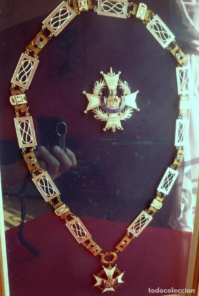 Militaria: (XJ-180717) Collar de honor y gran cruz de la Orden de San Raimundo de Peñafort , enmarcada . - Foto 2 - 153372269
