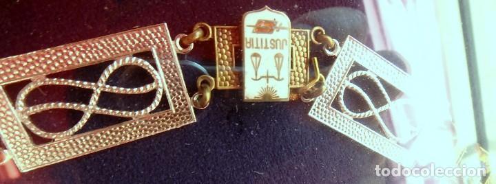 Militaria: (XJ-180717) Collar de honor y gran cruz de la Orden de San Raimundo de Peñafort , enmarcada . - Foto 3 - 153372269