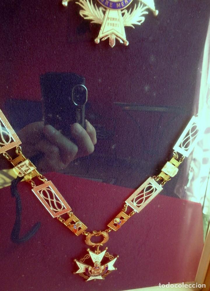 Militaria: (XJ-180717) Collar de honor y gran cruz de la Orden de San Raimundo de Peñafort , enmarcada . - Foto 4 - 153372269