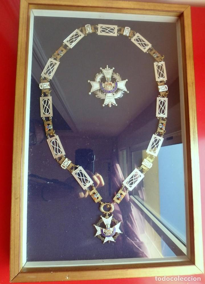 Militaria: (XJ-180717) Collar de honor y gran cruz de la Orden de San Raimundo de Peñafort , enmarcada . - Foto 6 - 153372269