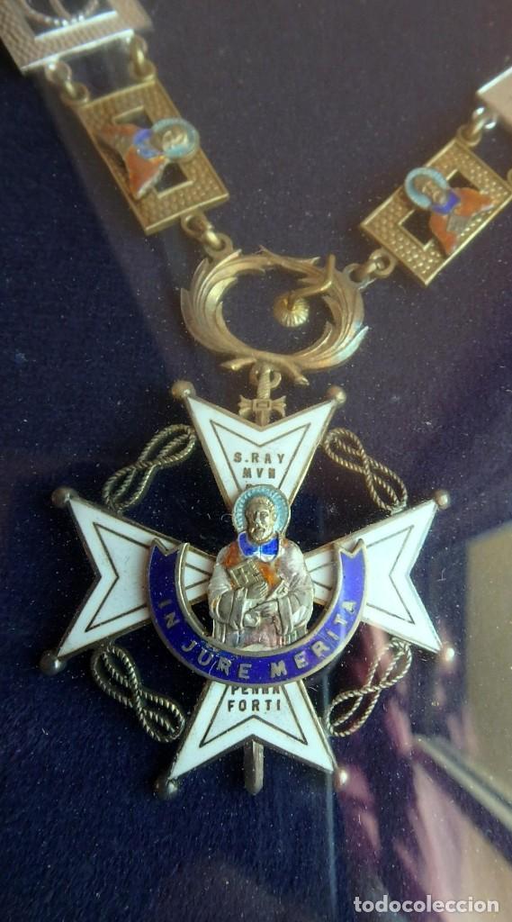 Militaria: (XJ-180717) Collar de honor y gran cruz de la Orden de San Raimundo de Peñafort , enmarcada . - Foto 7 - 153372269