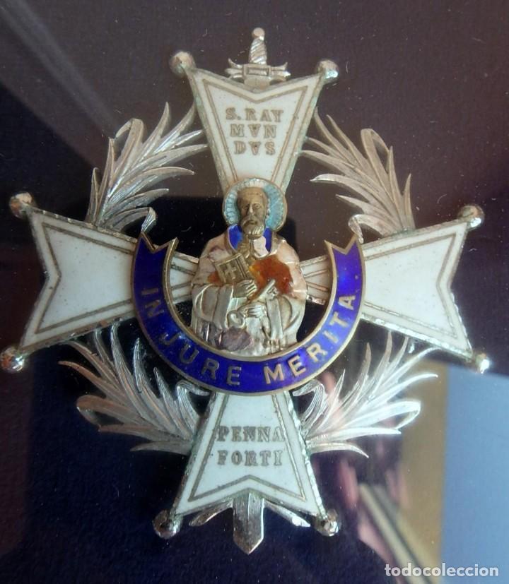 Militaria: (XJ-180717) Collar de honor y gran cruz de la Orden de San Raimundo de Peñafort , enmarcada . - Foto 8 - 153372269