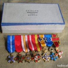 Militaria: EXCEPCIONAL PASADOR CASA CEJALVO.MERITO CIVIL ESPAÑA, ALEMANIA, FRANCIA, ORANGE, GUERRA CIVIL.... Lote 127448863