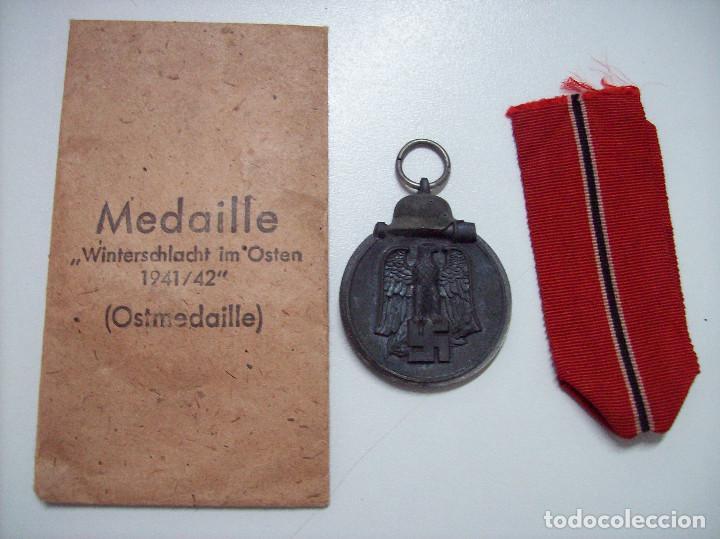 OSTMEDAILLE MEDALLA DE LA CAMPAÑA DE INVIERNO CON SOBRE MARCAJE 1 (Militar - Medallas Españolas Originales )