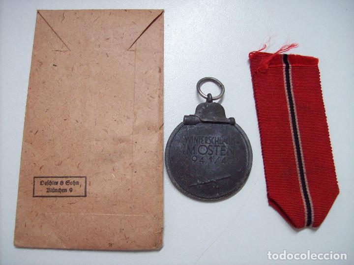Militaria: OSTMEDAILLE MEDALLA DE LA CAMPAÑA DE INVIERNO CON SOBRE MARCAJE 1 - Foto 2 - 127561027