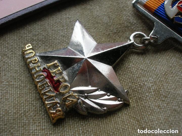Militaria: ORDEN UCRANIANA AL HEROISMO EN CHERNOBYL. PROTECCIÓN CIVIL. AL HEROE DE CHERNOBYL. RARA. - Foto 3 - 186337025