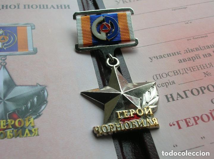 Militaria: ORDEN UCRANIANA AL HEROISMO EN CHERNOBYL. PROTECCIÓN CIVIL. AL HEROE DE CHERNOBYL. RARA. - Foto 9 - 186337025