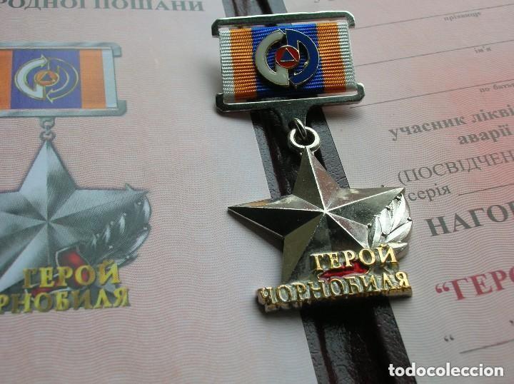 Militaria: ORDEN UCRANIANA AL HEROISMO EN CHERNOBYL. PROTECCIÓN CIVIL. AL HEROE DE CHERNOBYL. RARA. - Foto 11 - 186337025