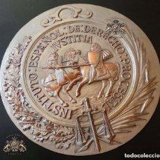 Militaria: PLANTILLA ORIGINAL PARA HACER EL TROQUEL DEL MEDALLON INSTITUTO ESPAÑOL DE DERECHO .- 21 CM DE ALTO. Lote 127626063