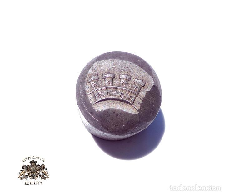TROQUEL, MATRIZ .- PARA CORONA MURAL. 2 CM DE ANCHO - REPÚBLICA (Militar - Medallas Españolas Originales )
