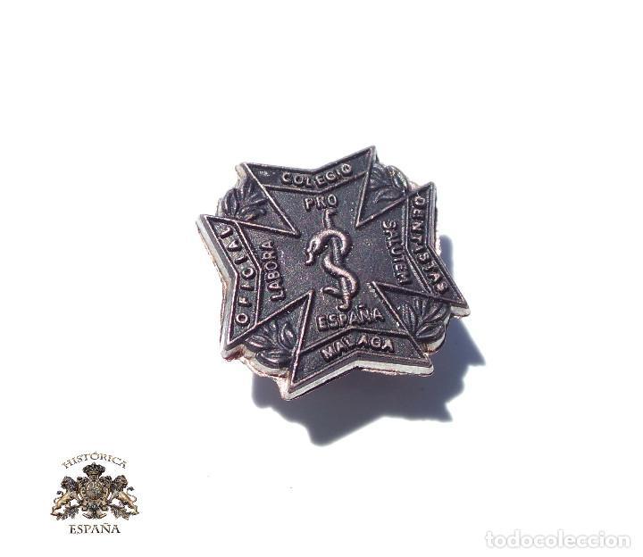 PRUEBA. MUESTRA DE TROQUEL.- MEDALLA INSIGNIA COLEGIO DENTISTAS DE MÁLAGA (Militar - Medallas Españolas Originales )