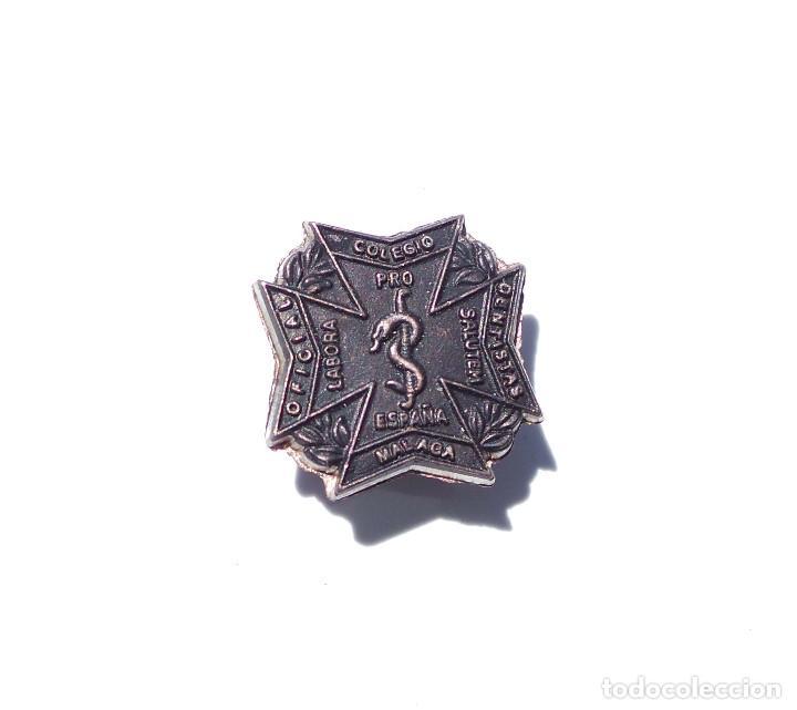 Militaria: PRUEBA. MUESTRA DE TROQUEL.- MEDALLA INSIGNIA COLEGIO DENTISTAS DE MÁLAGA - Foto 2 - 127637031