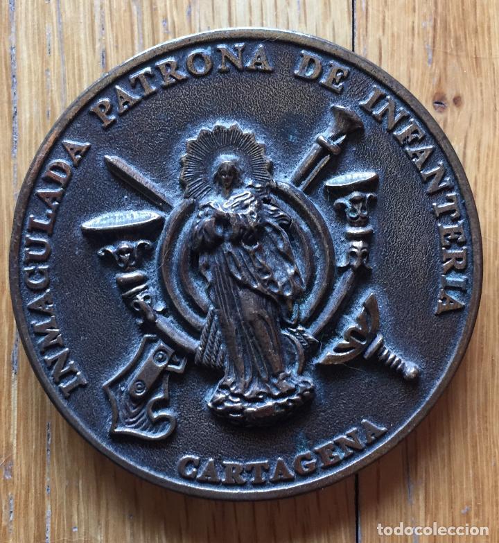 MEDALLA CONMEMORATIVA PATRONA INFANTERIA CARTAGENA (Militar - Medallas Españolas Originales )