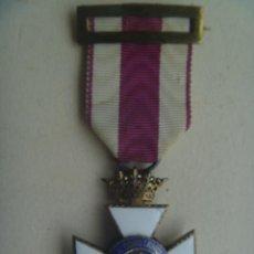 Militaria: MEDALLA CRUZ DE SAN HERMENEGILDO EPOCA DE ALFONSO XIII MODIFICADA DE FRANCO CON CORONA IMPERIAL. Lote 127808883