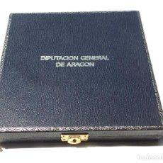 Militaria: ESTUCHE PARA MEDALLA 15,5 X 15,5 X 3 CM CIRCULO PARA MEDALLA 9 CM DIÁMETRO DIPUTACIÓN GENERAL ARAGÓN. Lote 127854407