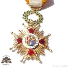 Militaria: MEDALLA REAL ORDEN DE ISABEL LA CATÓLICA EN ORO DE 18 KILATES.- ISABEL II.. Lote 127871703