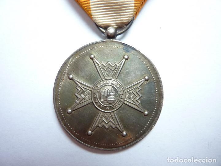 MEDALLA DE LA ORDEN DE ISABEL LA CATÓLICA -CATEGORÍA DE PLATA-. MUY RARA. ALFONSO XIII (Militar - Medallas Españolas Originales )