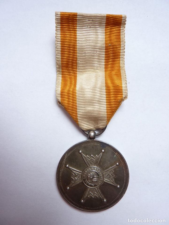 Militaria: Medalla de la Orden de Isabel la Católica -Categoría de plata-. Muy rara. Alfonso XIII - Foto 3 - 128071539