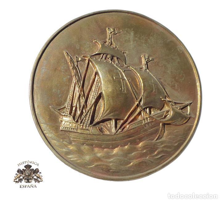 PLANTILLA ORIGINAL PARA HACER TROQUEL DE MEDALLA.- BARCO CARABELA - 12 CM DIÁMETRO (Militar - Medallas Españolas Originales )