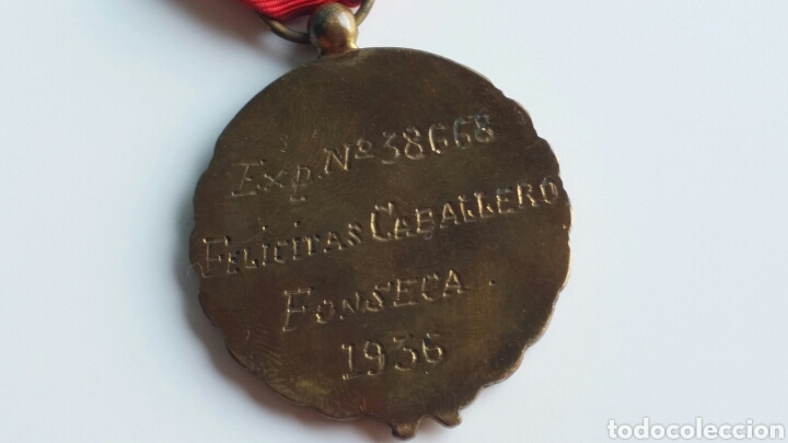Militaria: MEDALLA FALANGE VIEJA GUARDIA EXP 38668 DE 1936 ORIGINAL EXCELENTES ESMALTES - Foto 4 - 128231547