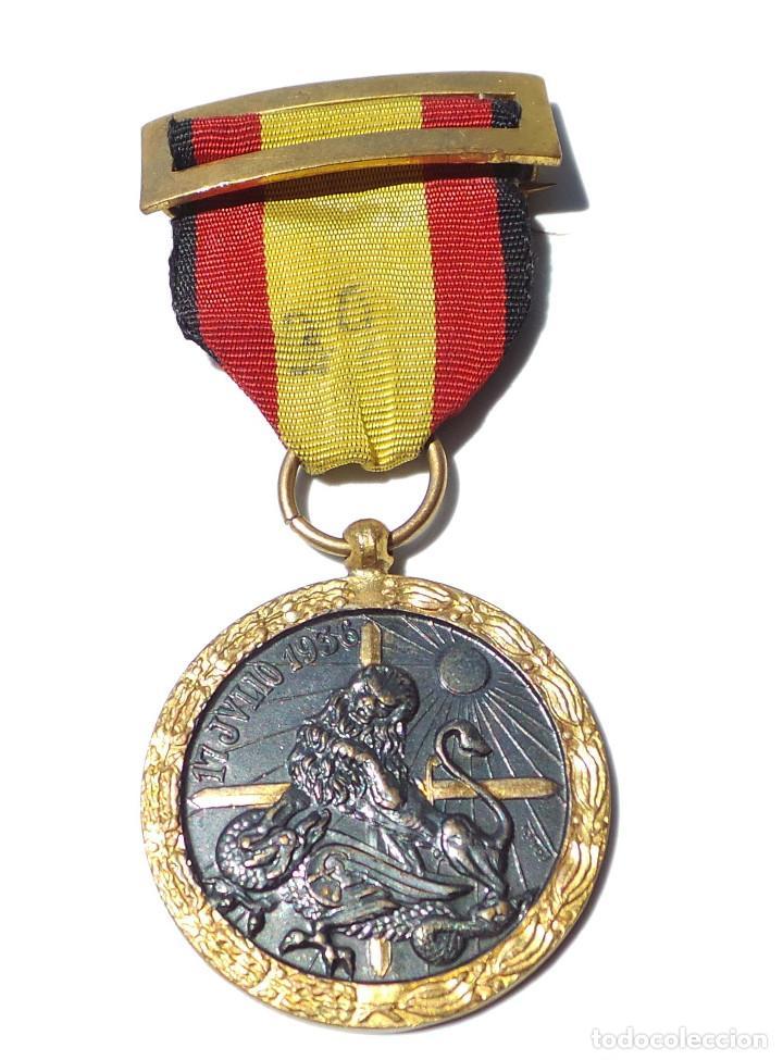 Militaria: MEDALLA DE LA CAMPAÑA GUERRA CIVIL - 17 JULIO 1936 - INDUSTRIAS EGAÑA - Foto 2 - 128605811