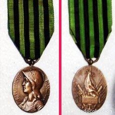 Militaria: FRANCIA.- 1870 -1871.MEDALLA BRONCE -A LOS DEFENSORES DE LA PATRIA- FDO. GEORGES LEMAIRE. CINTA VERD. Lote 128699239