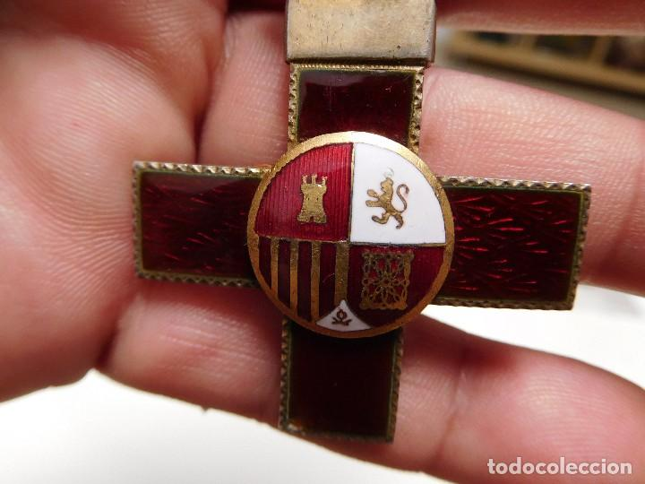 Militaria: Cruz al mérito militar distintivo rojo II República - Foto 5 - 129177171