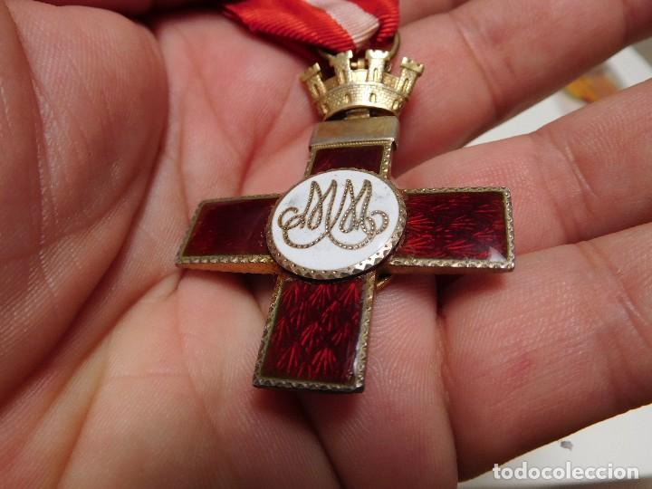 Militaria: Cruz al mérito militar distintivo rojo II República - Foto 10 - 129177171