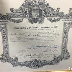 Militaria: CONCESION LAZO DAMA FRANCO MERITO CIVIL PATRIOTISMO ABNEGACION PERSEVERANCIA OPTIMISMO 1969 46X50,5. Lote 129418239