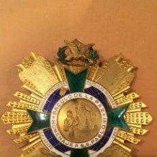 Militaria: MEDALLA DE PECHO - HOMENAJE A S S PABLO VI BÁCULO DE LA PAZ , ESMALTADA. Lote 129586351