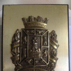 Militaria: METOPA CON ESCUDO EN BRONCE CIUDAD DE CARTAGENA ( MURCIA ESPAÑA ) FONDO DORADO.. Lote 129760323