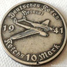 Militaria: MEDALLA AVIÓN HEINKEL, LUFTWAFFE. ALEMANIA. II GUERRA MUNDIAL. 1941. RÉPLICA. Lote 173889834
