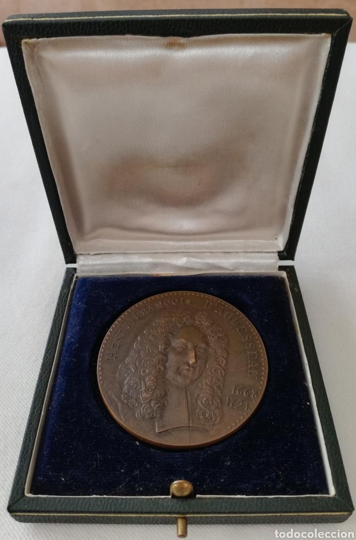 Militaria: Antigua Medalla Francesa de Bronce. - Foto 2 - 130106016