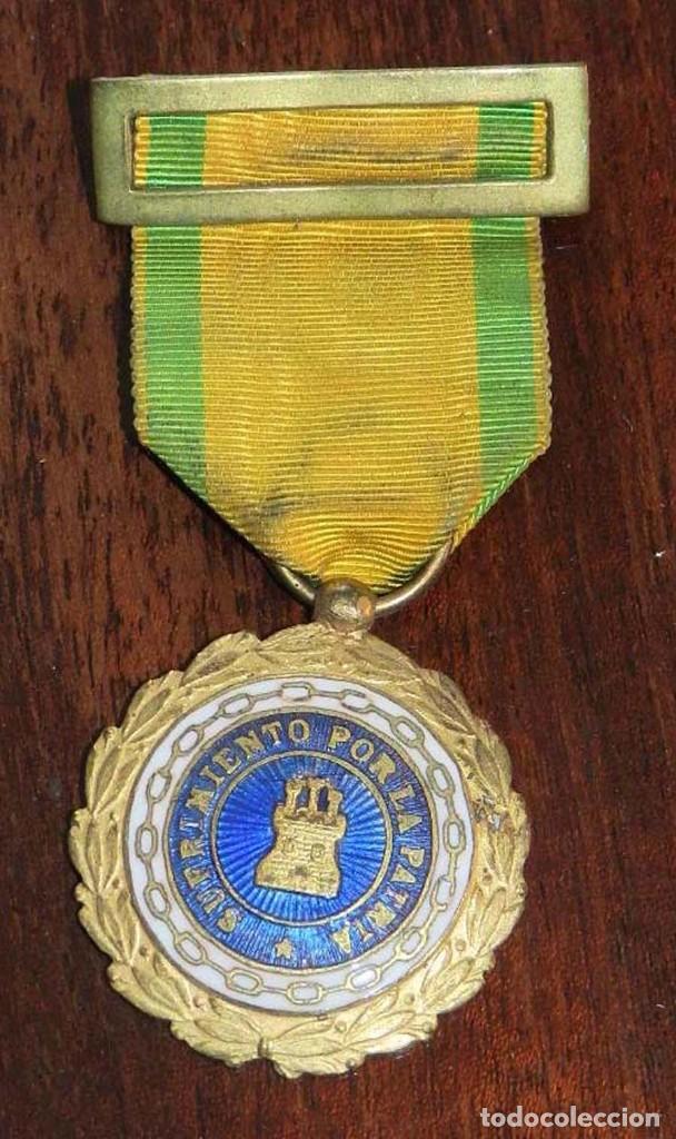 ANTIGUA MEDALLA DE SUFRIMIENTO POR LA PATRIA, ALFONSO XIII, GUERRA CIVIL, 100% TODO ORIGINAL, EXCELE (Militar - Medallas Españolas Originales )