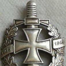 Militaria: PLACA ANIVERSARIO EJÉRCITO WEHRMACHT. ESPADA, CRUZ DE HIERRO Y HOJAS DE ROBLE. ALEMANIA. 2ª GUERRA. Lote 144749396