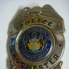 Militaria: PLACA AMERICANA REPRODUCION POLICE ROCHESTER PENNA PENNSYLVANIA (#). Lote 131114988