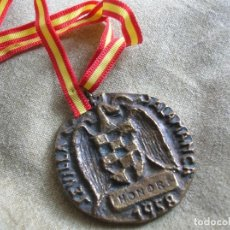 Militaria: RARA MEDALLA FALANGISTA TORNEOS NACIONALES UNIVERSITARIOS SEU. HONOR SEVILLA SALAMANCA 1958 FALANGE.. Lote 131191072
