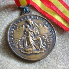 Militaria: RARA MEDALLA DEL ALBERGUE JUVENILE FRANCO. POR EL IMPERIO HACIA DIOS. PRECISO RELIEVE.. Lote 131191740