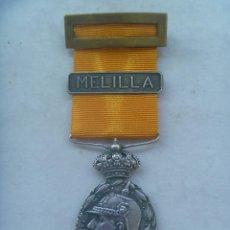 Militaria: GUERRA DE AFRICA : MEDALLA DE LA CAMPAÑA DEL RIF PARA OFICIALES ( DE PLATA ), PASADOR MELILLA.. Lote 131402918